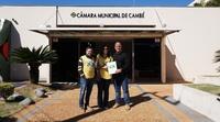 Diretores regionais do Projeto Mãos que ajudam visitam Câmara Municipal
