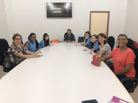 Vereador Tokinho recebe  na CMC alunas e professoras do CAIC