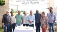 VEREADORES PARTICIPAM DA ASSINATURA DE ORDEM DE SERVIÇO PARA CONSTRUÇÃO DE UBS