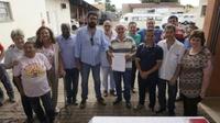 Vereadores participam da Solenidade de assinatura de ordem de serviço